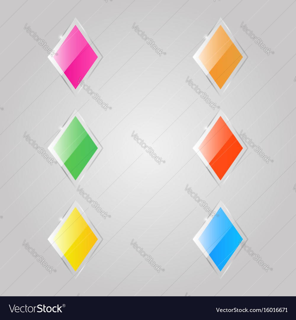 Colored glass rhombuses banners