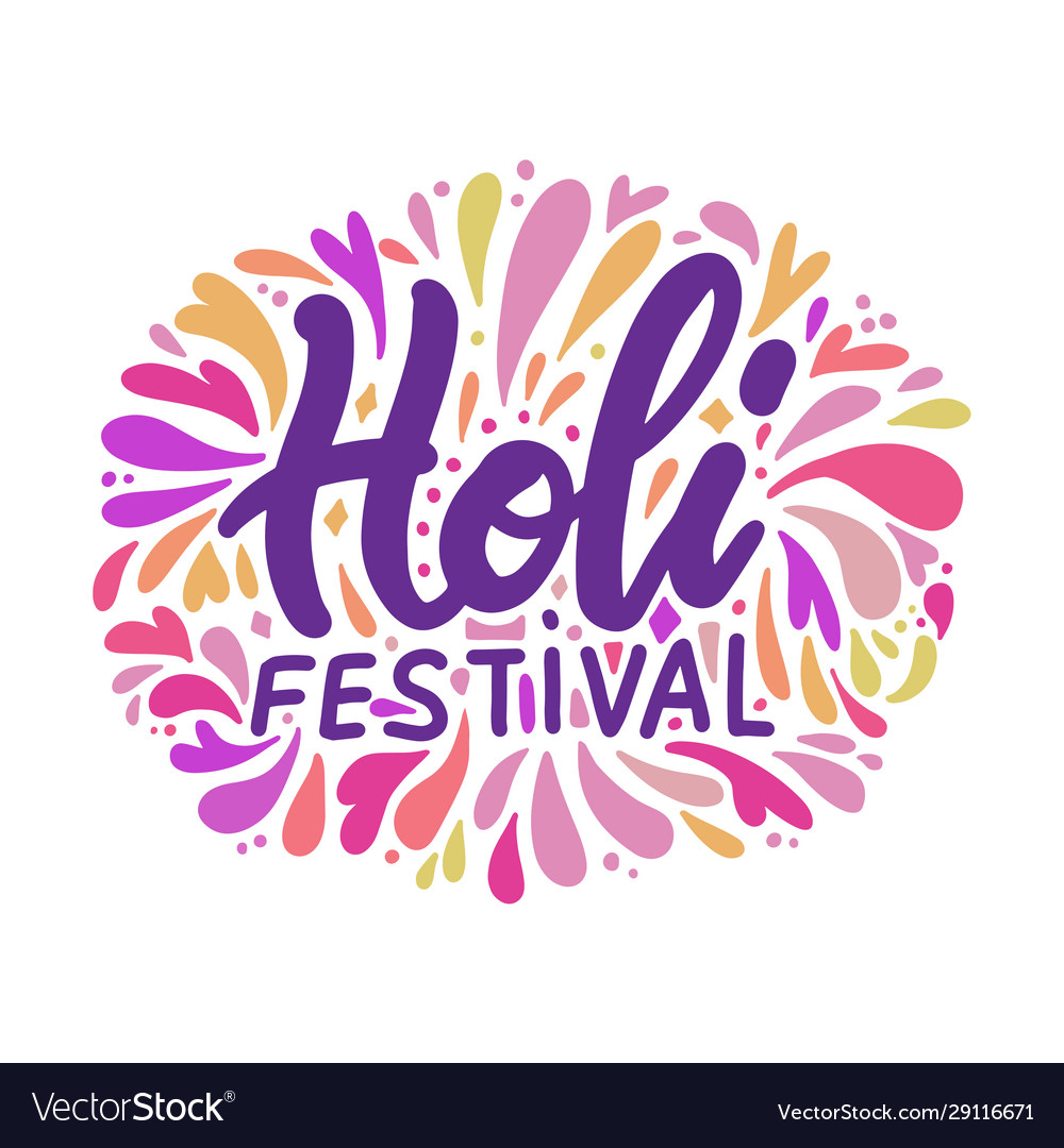 Holi lettering for festival vector