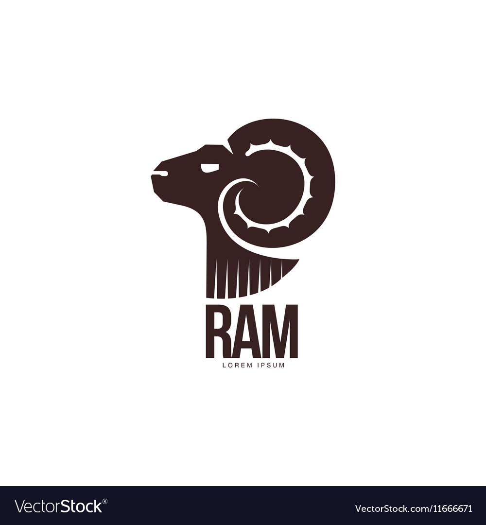 Ram sheep lamb head silhouette graphic logo