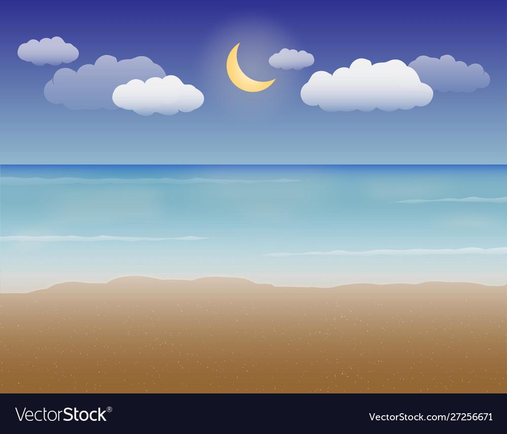 Sea sand and night sky