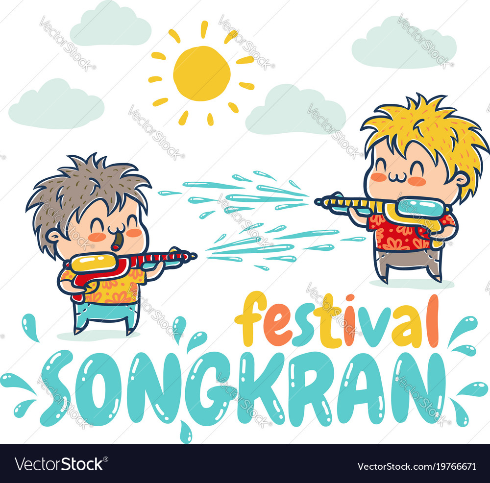 Songkran water festival in thailand