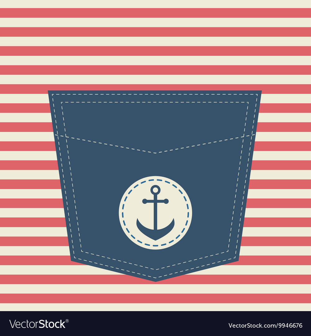 A pocket with anchor