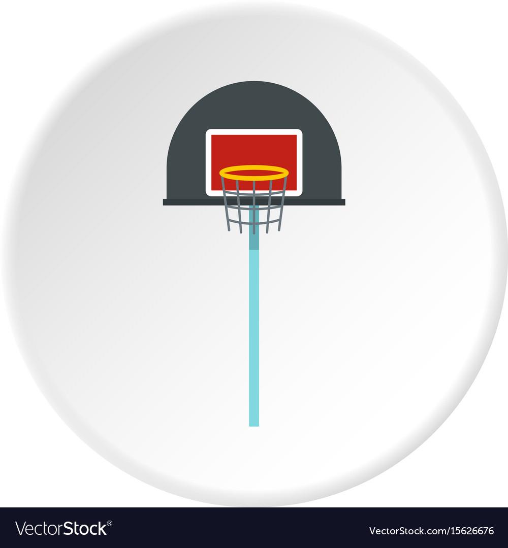 Basketball hoop icon circle