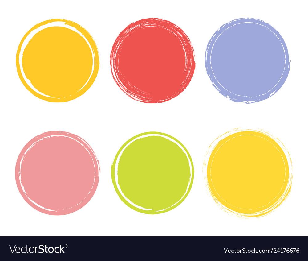 Creative watercolor hand drawn element circle
