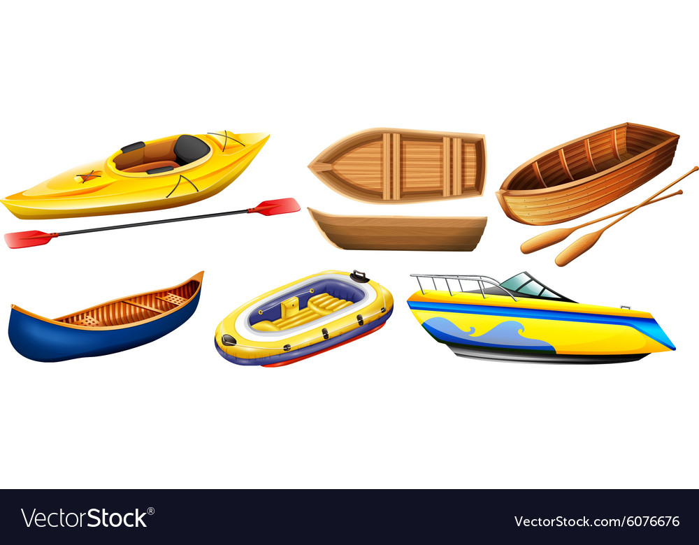 different kind of boats royalty free vector image