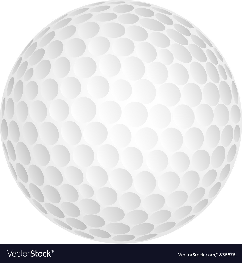 golf ball royalty free vector image vectorstock rh vectorstock com Golf Ball Clip Art Golf Ball Drawing