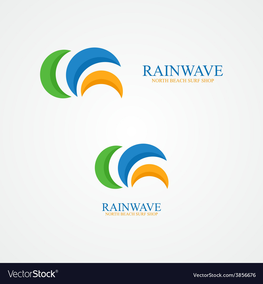 Set of abstract semicircle logo vector image