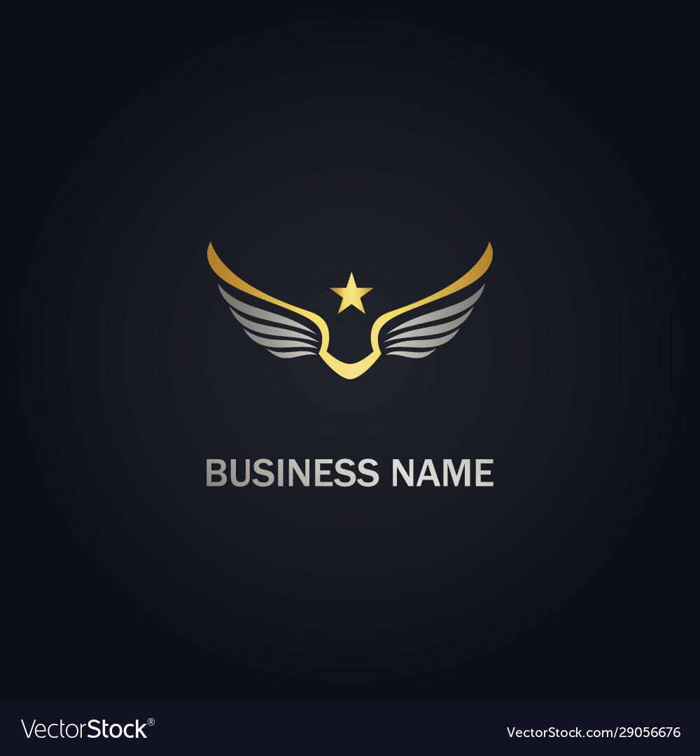 Star wing america freedom gold logo