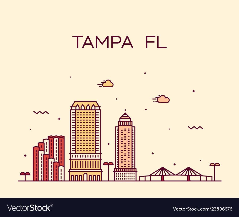 Tampa skyline hillsborough florida usa city