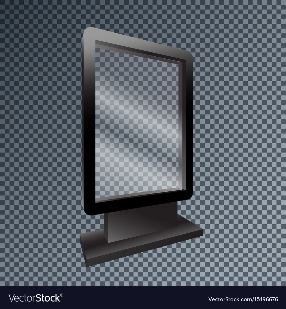 Template blank mockup outdoor lightbox for