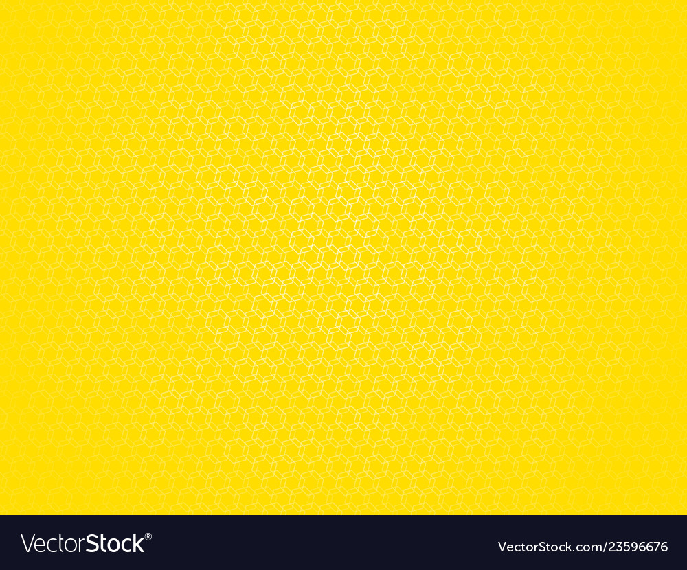 Yellow outline hexagon pattern