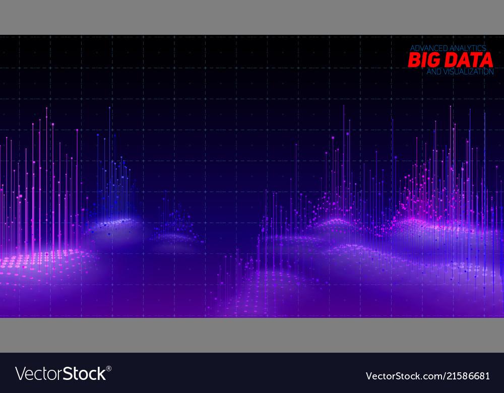 Abstract 3d big data visualization