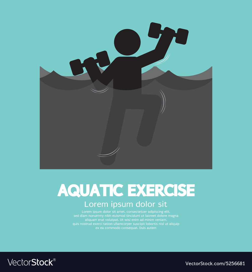 Black Symbol Aquatic Exercise vector image