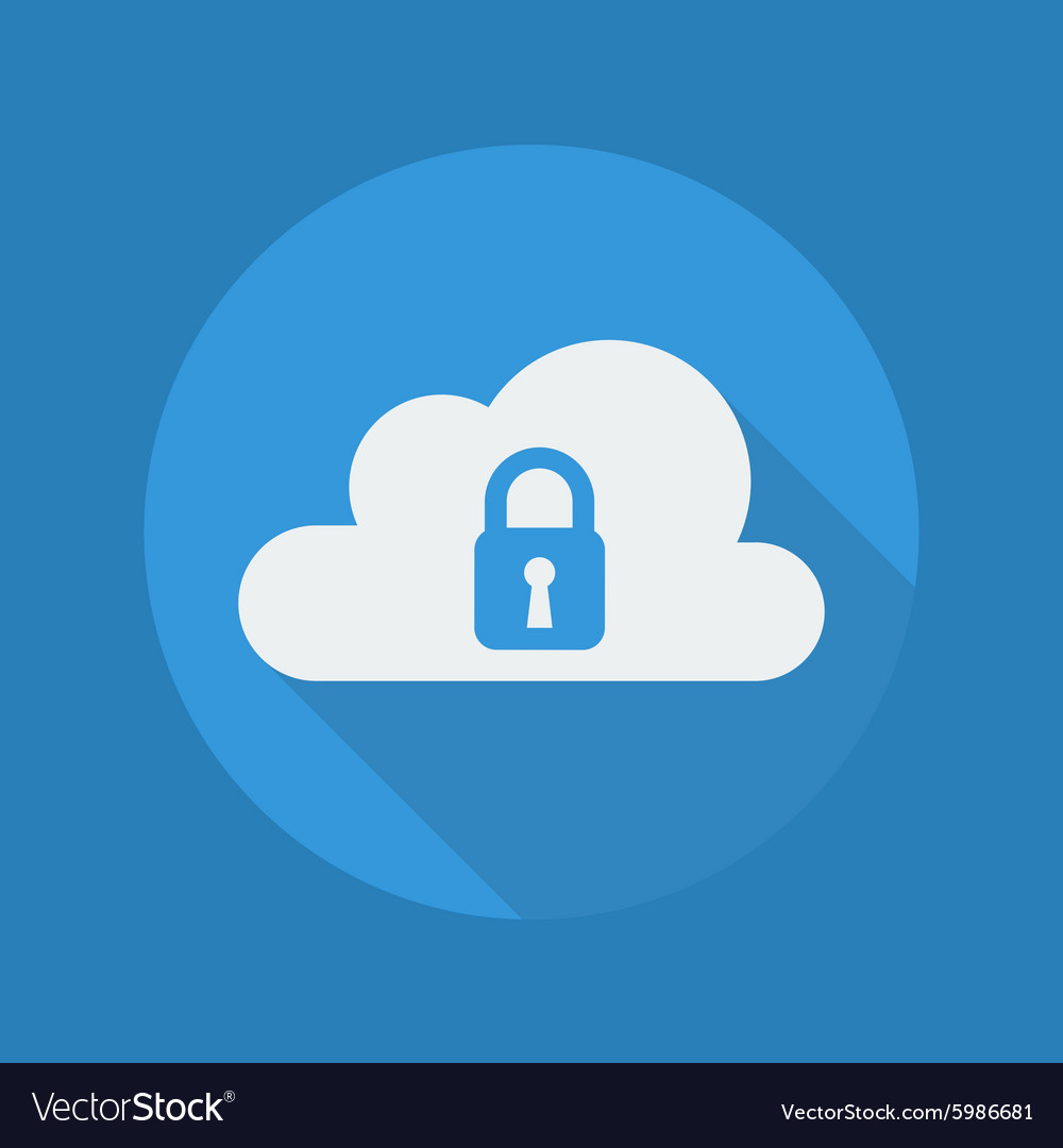 Cloud Computing Flat Icon Security