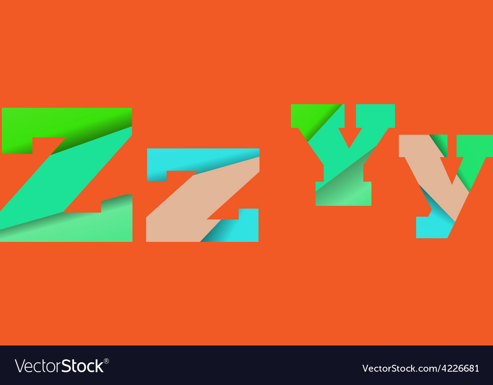 Cut into several parts within font ZY