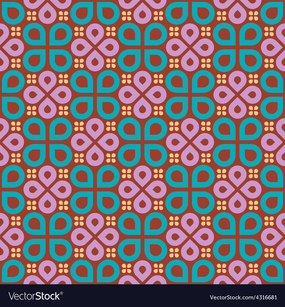 Floral drops geometric seamless pattern