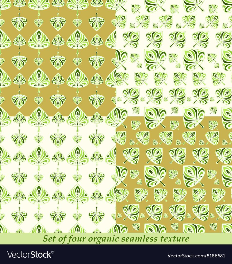 Green leaves seamless pattern