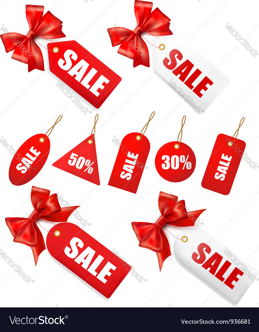 Red bow with card sale