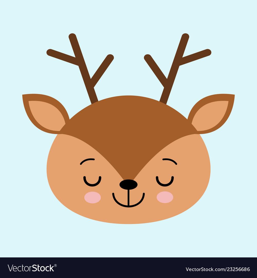 Deer head cute. A of sleeping on