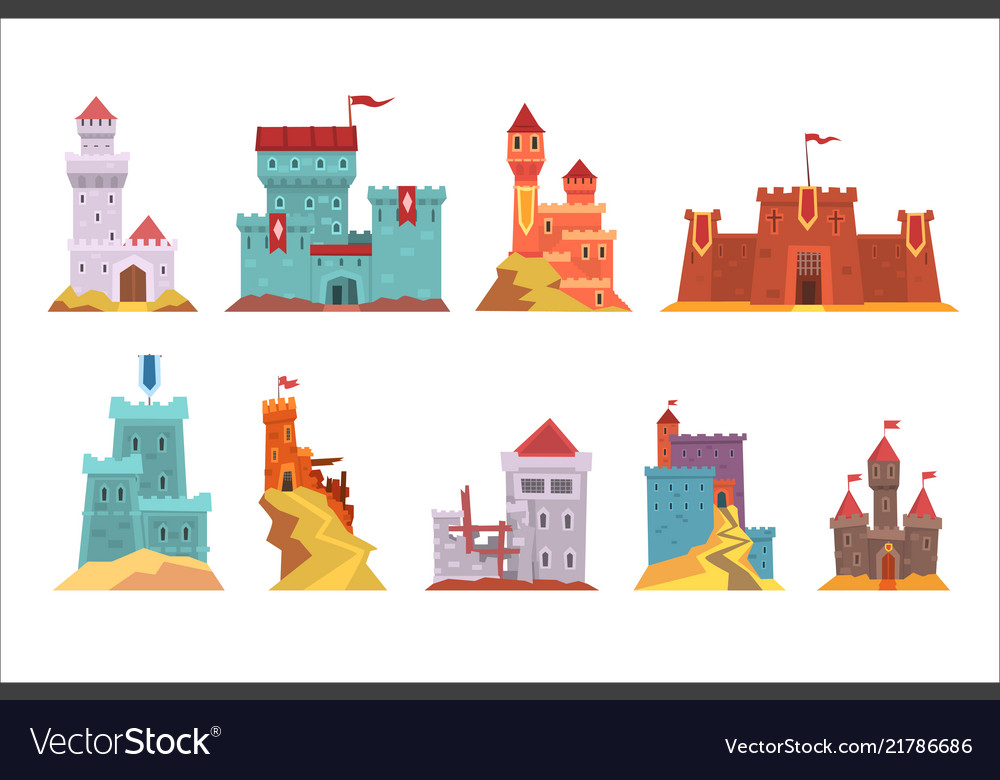 Ancient castles and fortresses set various