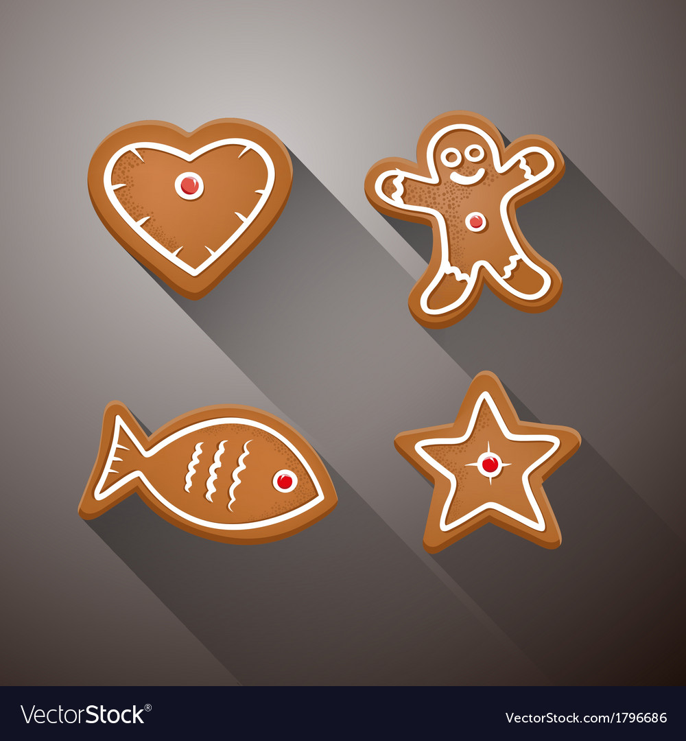 Christmas Gingerbread - Heart Fish Star and