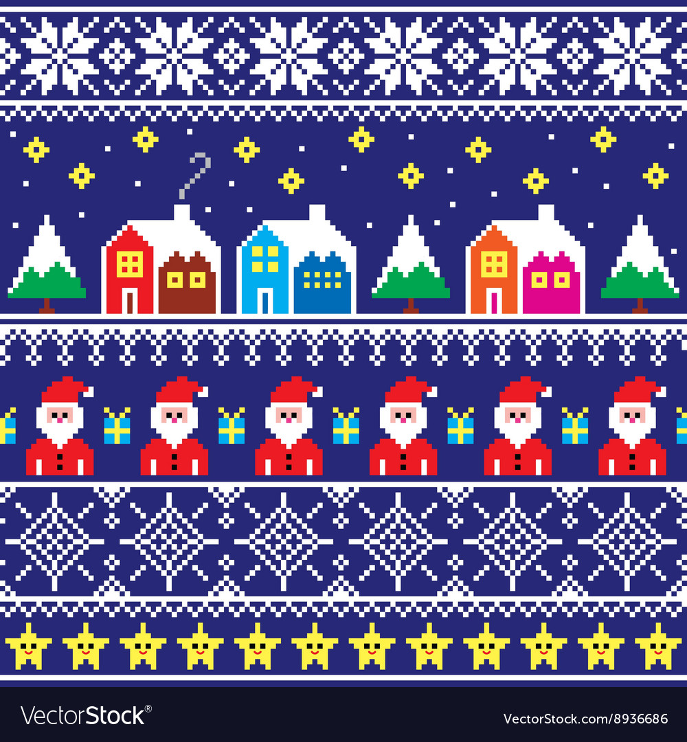 1380095dc Christmas jumper or sweater seamless pattern Vector Image