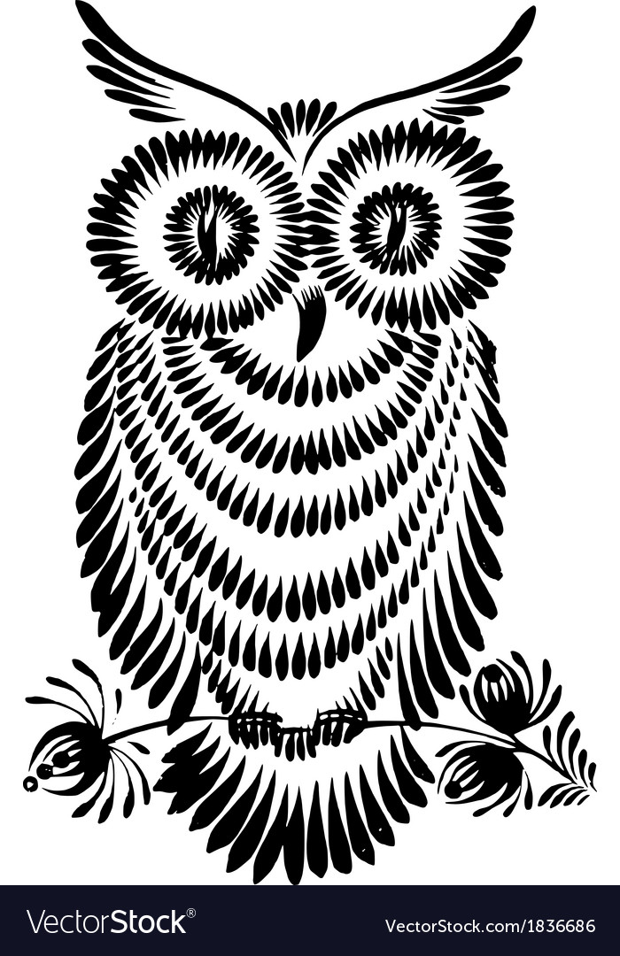 Decorative silhouette of a owl