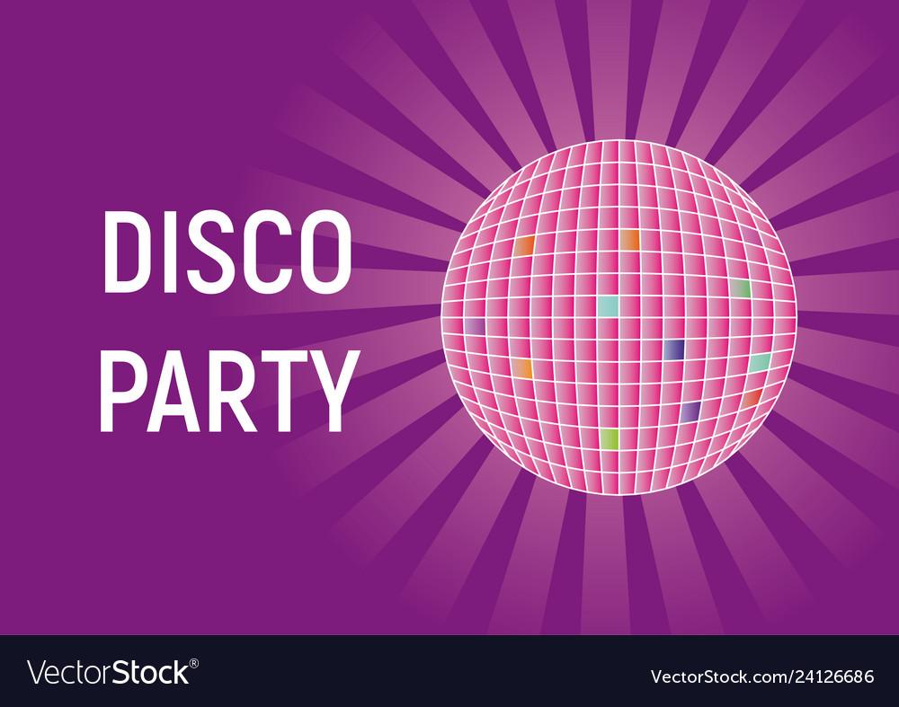 Disco party purple bright background