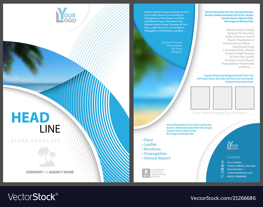 elegant flyer template with geometric shapes vector image