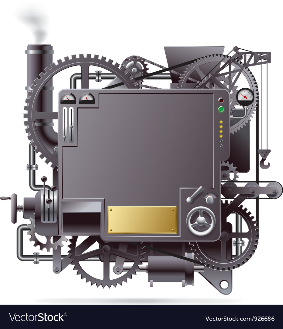 Fantastic machine vector image