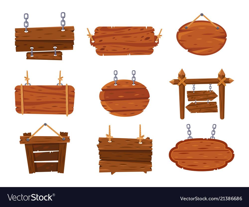 hanging wood signs blank antique wooden sign vector image. Black Bedroom Furniture Sets. Home Design Ideas