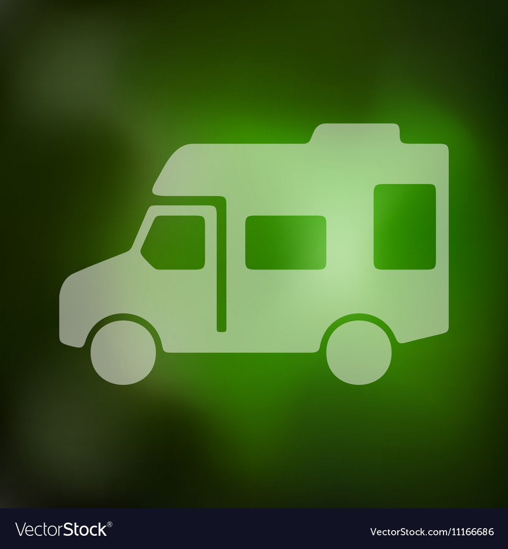 Motorhome icon on blurred background vector image