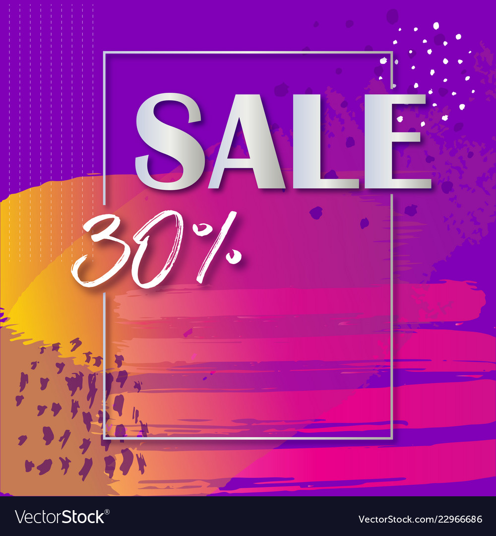 Sale banner template with colorful