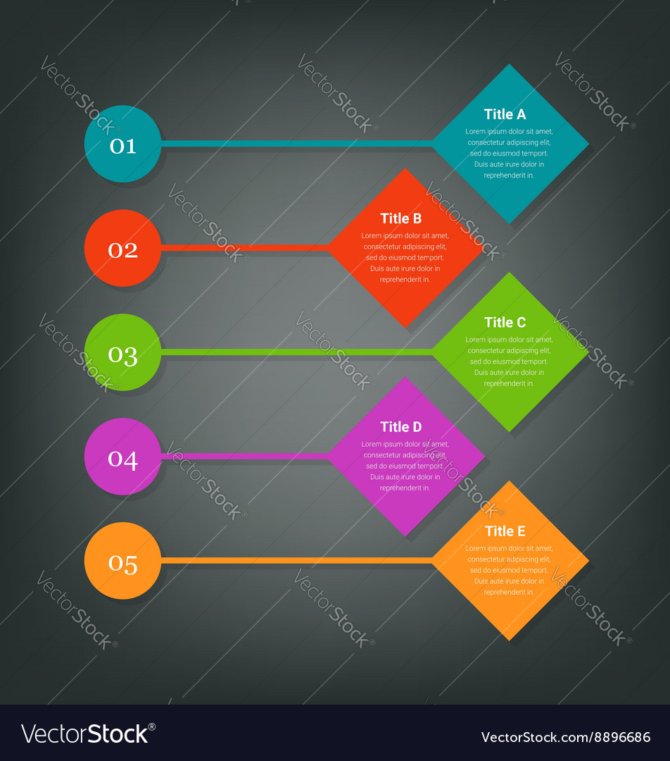 Steps for business info-graphics