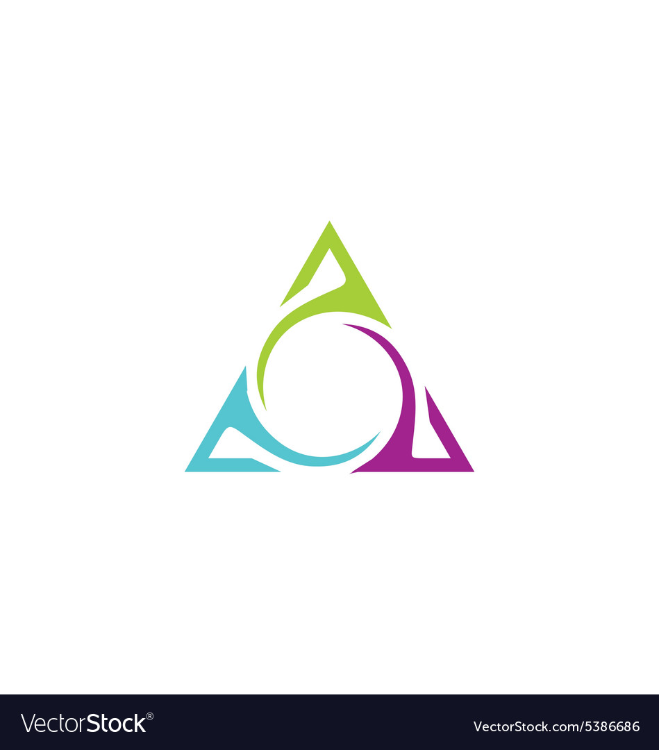 Unusual triangle abstract business logo