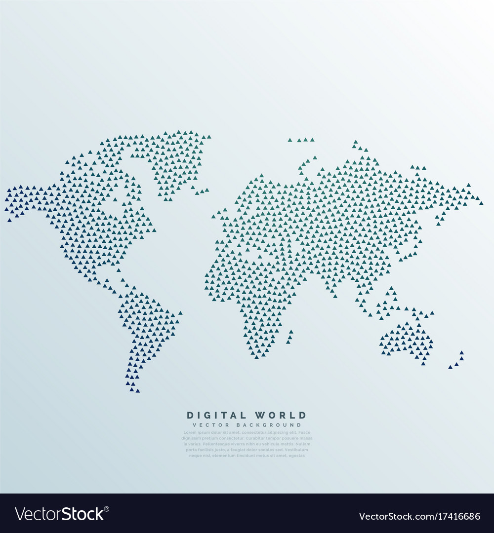 World map made with dots royalty free vector image world map made with dots vector image gumiabroncs Choice Image