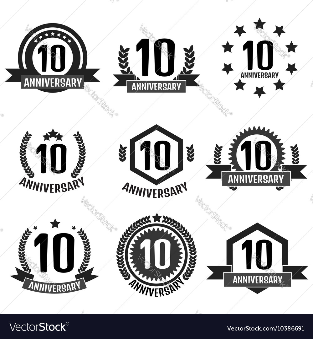 Anniversary 10 set logo