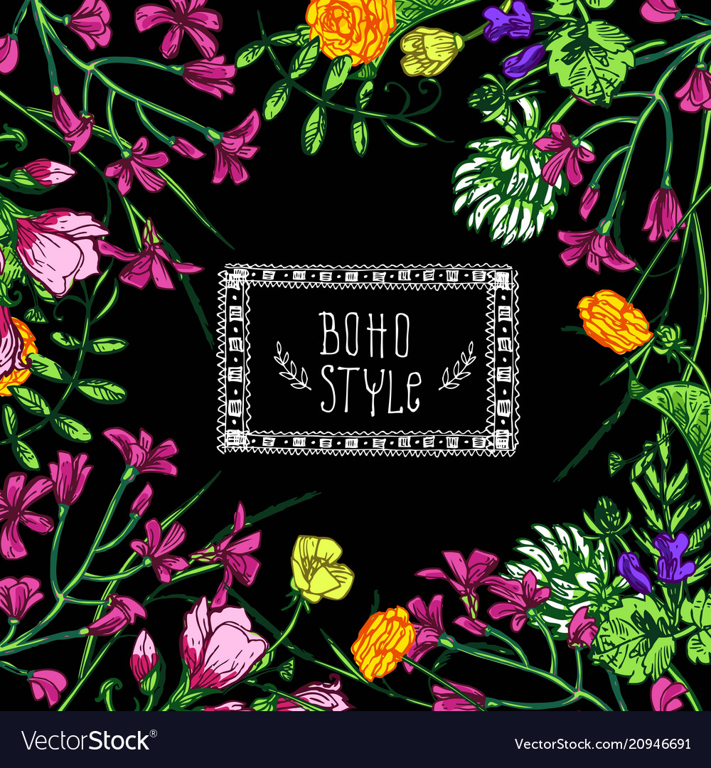 Beautiful hand drawn floral