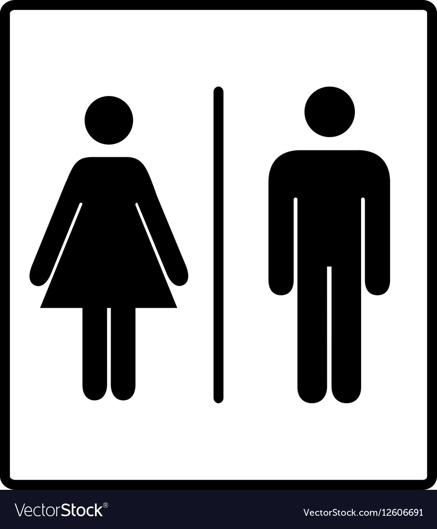 Image of: Men S Bathroom Sign Vector Intended Mens And Womens Disabled Restroom Signage Vector Image