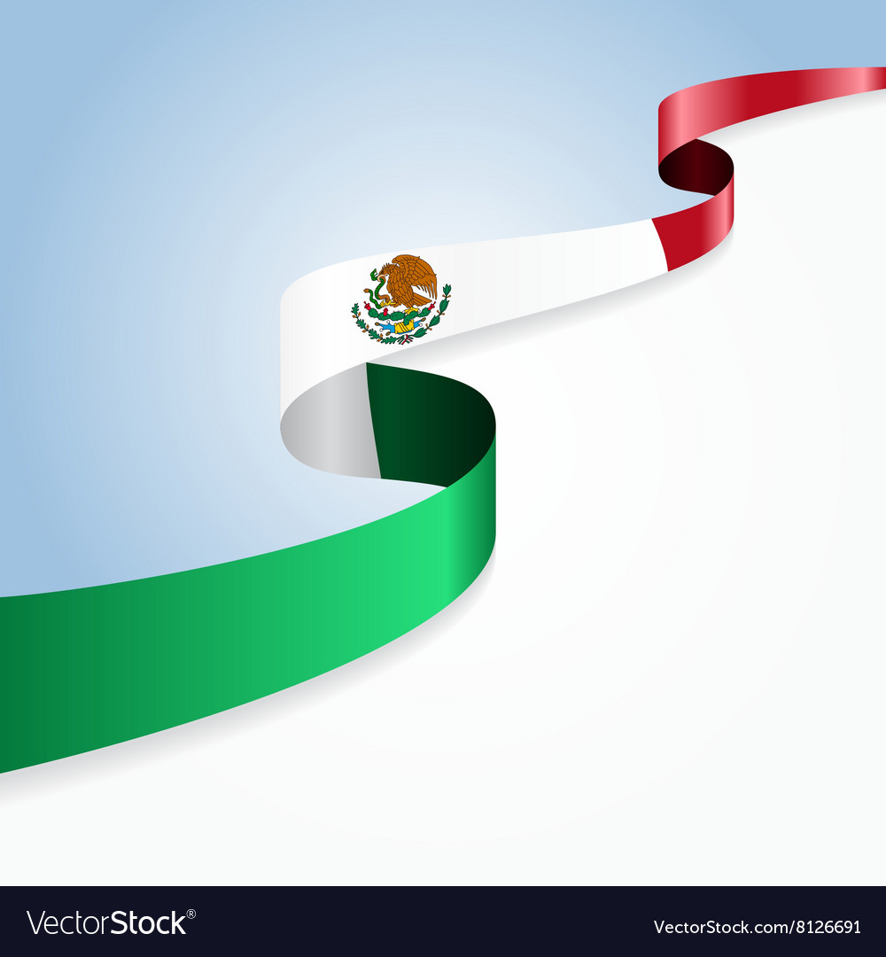 Mexican flag background vector image