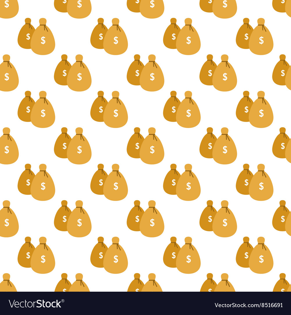 Money bags pattern seamless vector