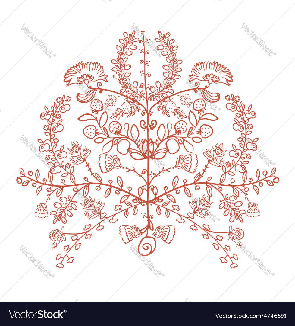 Ukrainian Traditional Symbol The Tree Of Life Vector Image