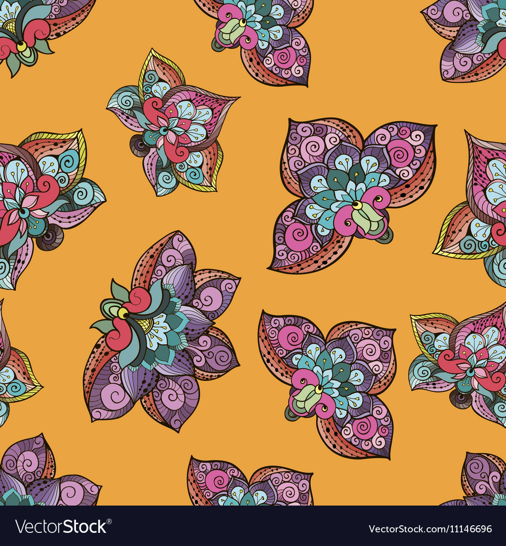 Beautiful sylized floral seamless pattern for your vector image