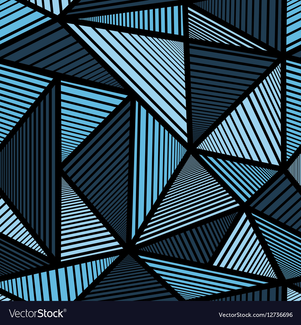 Colorful pattern with blue triangle