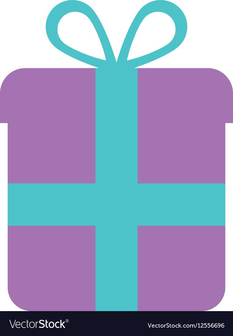 Purple gift box wrap ribbon