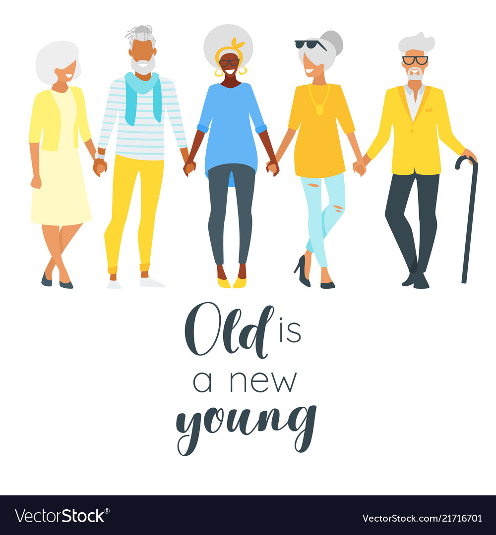 Elderly senior man and woman