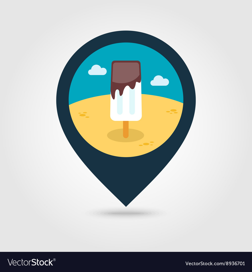 Ice Cream pin map icon Summer Vacation