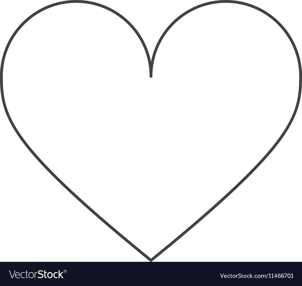 Isolated heart shape design vector image