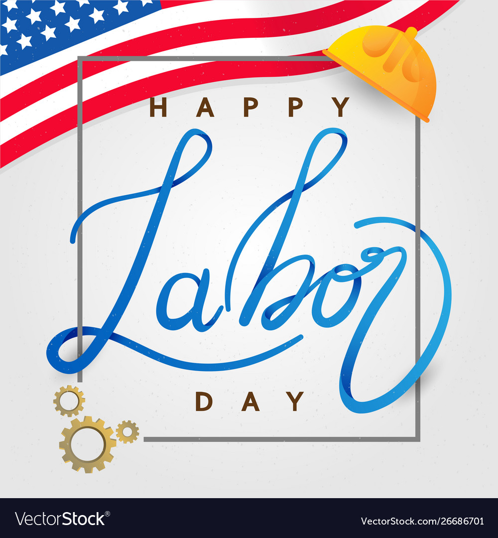 Labor day in america background design template
