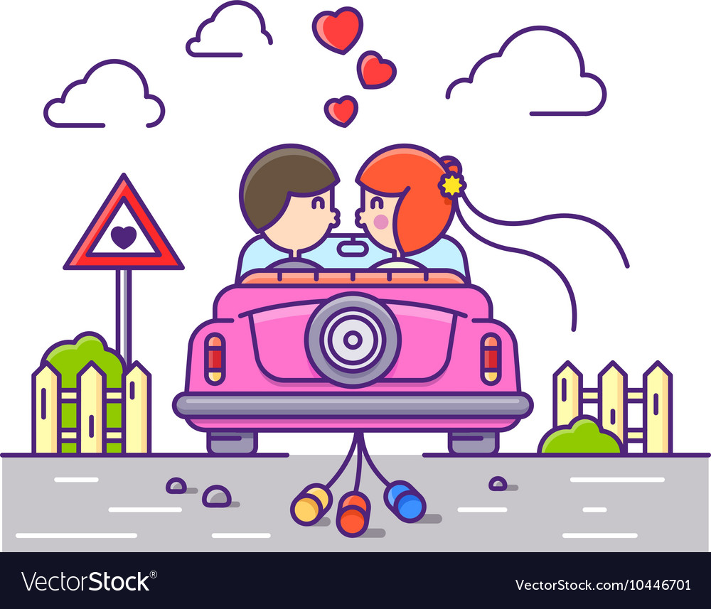 Love concept flat vector image